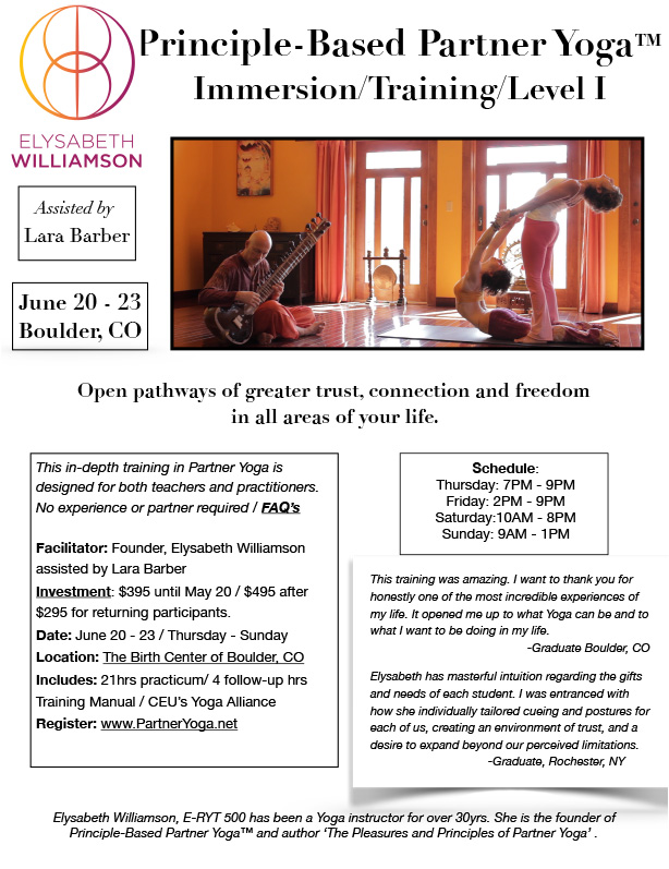 Principle Based Partner Yoga With Elysabeth Williamson